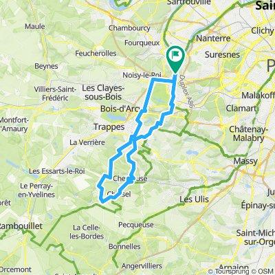 vallée de CHEVREUSE 57 KM