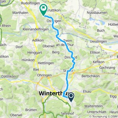 Gerade Fahrt in Winterthur