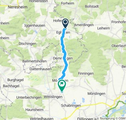 Langsame Fahrt in Wittislingen