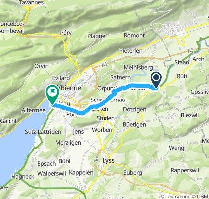 Itinéraire modéré en Nidau