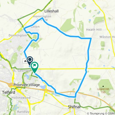 Moderate route in Telford