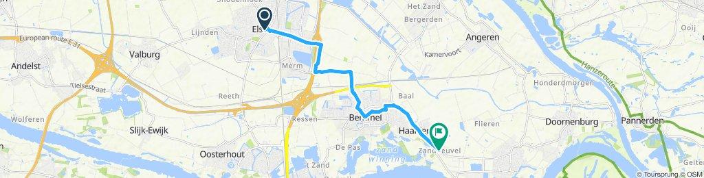 Snail-like route in Gendt