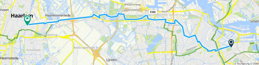 Langsame Fahrt in Haarlem