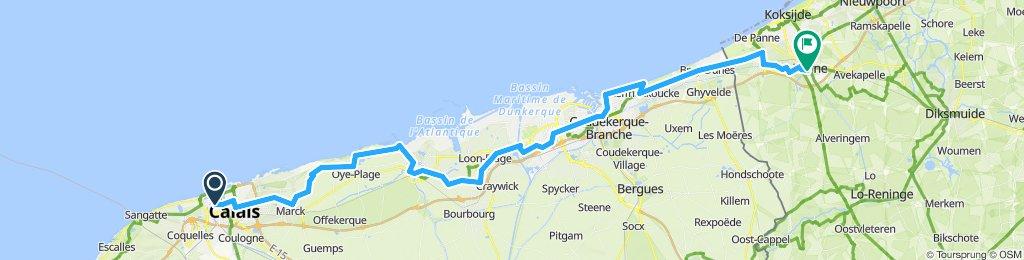 Calais nach Veurne