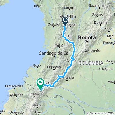 Támesis (Antioquia) - Ipiales (Nariño)