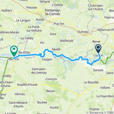 Tour de Base - Étape 1 (Coulon > Marans) via La Vélo Francette