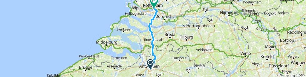Antwerp to Rotterdam