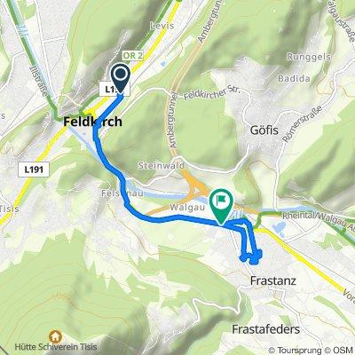 Feldkirch railway station to Franstanz hotel (Austria)