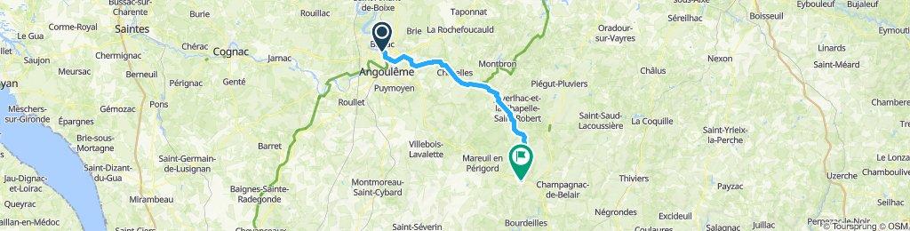 Tour de Base - Étape 8 (Saint-Yrieix-sur-Charente > Saint-Félix-de-Bourdeilles, via La Flow Vélo)