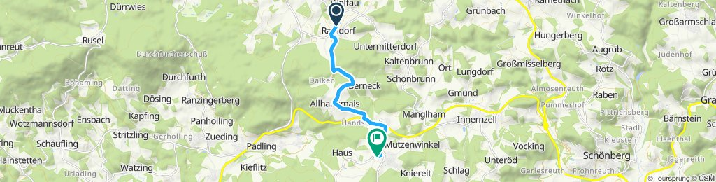 Moderate Route in Schöfweg