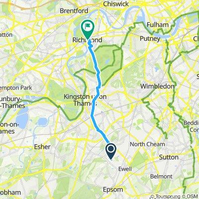 Snail-like route in Richmond
