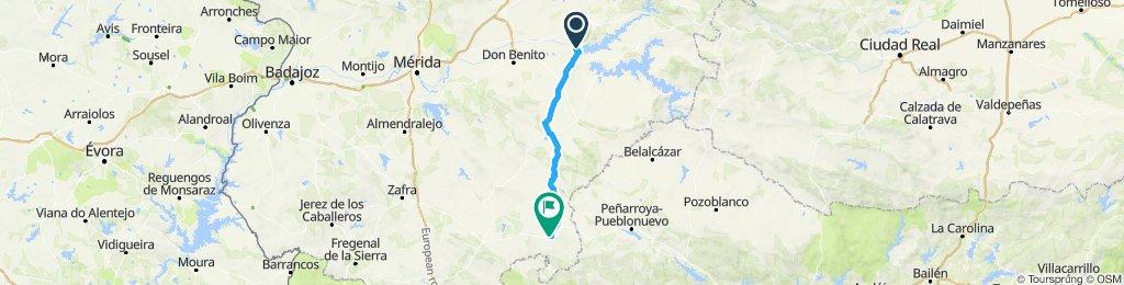 4ª etapa camino del Rocio Orellana la vieja Azuaga