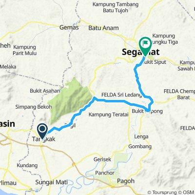 Tangkak to Neo Pegasus Hotel, Segamat