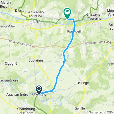 chedigny to cheninceaux