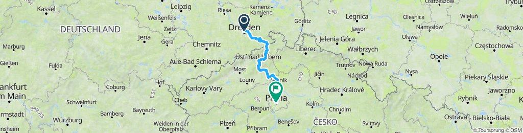 Elberadweg Dresden - Prag