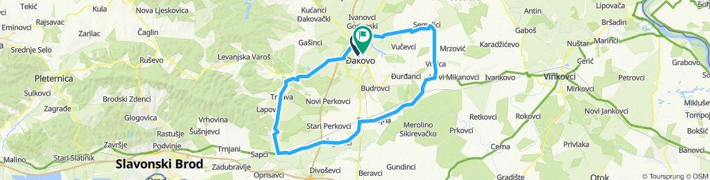 80 km preko Trnava/Vrbica/Đakovo