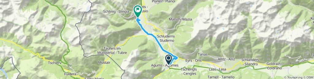 Route im Schneckentempo in Mals
