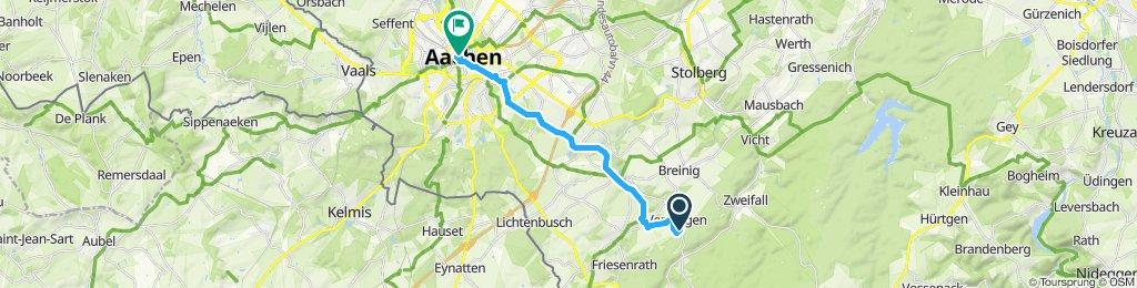 Venwegen Aachen über Eselsweg