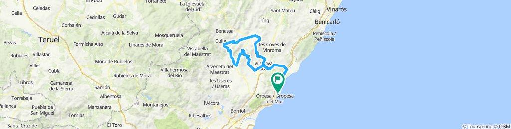 Marina D'or - Torreblanca - BEnlloch - Sierra - Vuelta Parc Miner Maestrat - Albocasser - Saratella - La torre - Torreblanca - Marina D'or