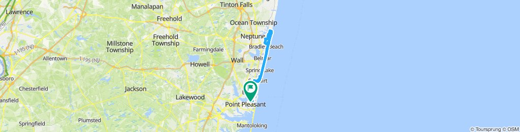 Snail-like route in Point Pleasant Beach