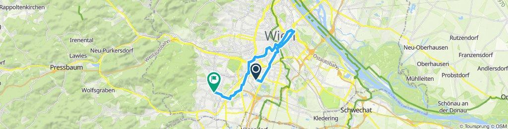 Gerade Fahrt in Wien