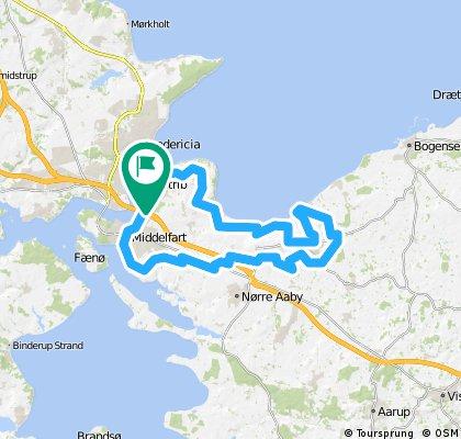 Training route around Strib (West Funen)