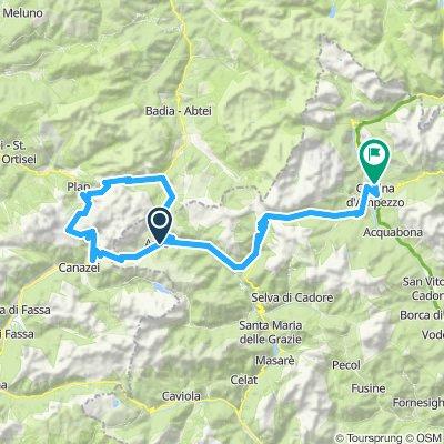 RDAY 8 13-8 Selle Ronda to cortina 90km2600m