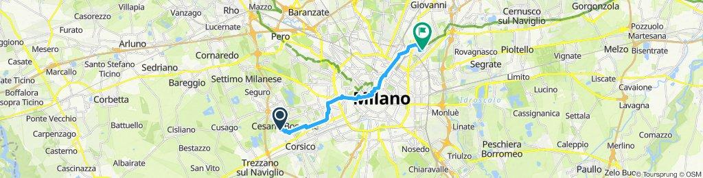 Slow ride in Milan