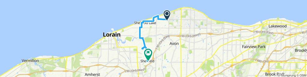 Snail-like route in Avon Lake