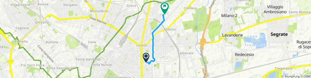 Steady ride in Milan
