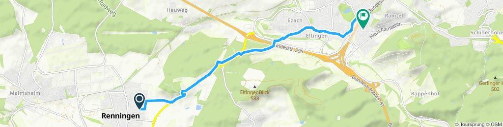 Gemütliche Route in Leonberg