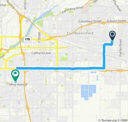 Steady ride in Bakersfield