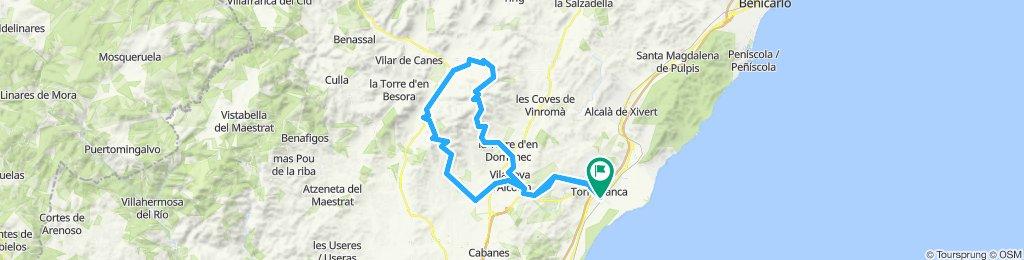 Torreblanca - Villanueva de Alcolea - Benlloch - Sierra Egarceran - Albocasser - La Seratella - La Torre D'endomenc - Vilanova - Torreblanca