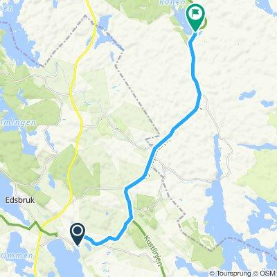 Snail-like route in Valdemarsvik