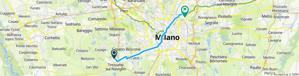 Moderate route in Milan