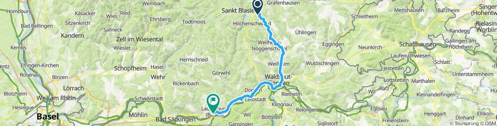 Häusern-Laufenburg (via Schwarzatal)