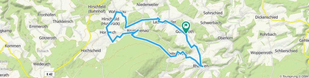 Langsame Fahrt in Gösenroth