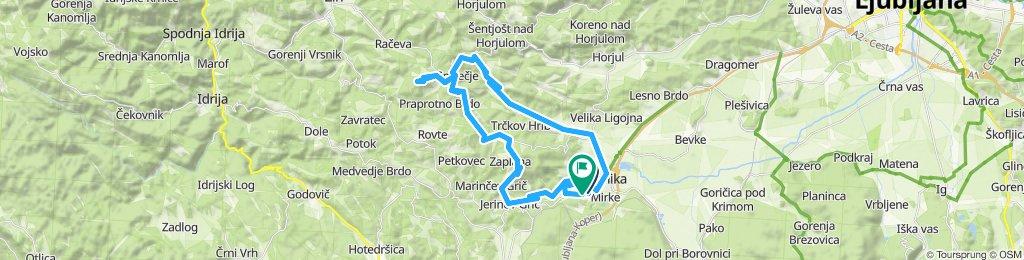 Gemütliche Route in Vrhnika