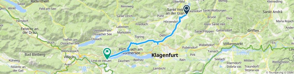 Route im Schneckentempo in Velden am Wörther Seeo