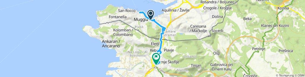 Route im Schneckentempo in Koper