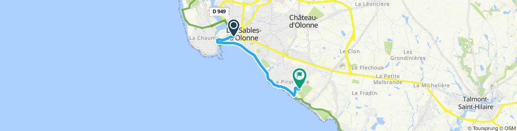 Itinéraire confortable en Château-d'Olonne
