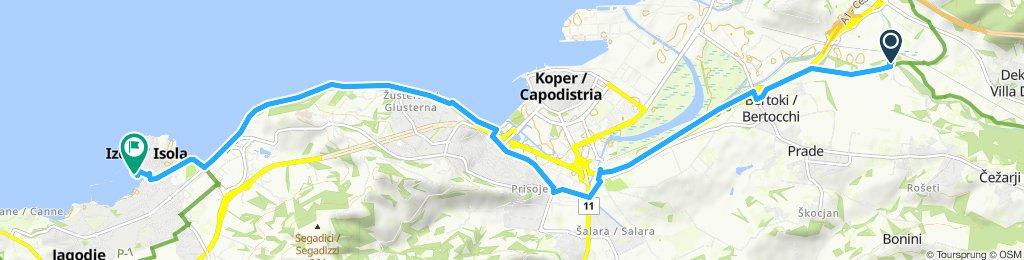 Gemütliche Route in Izola