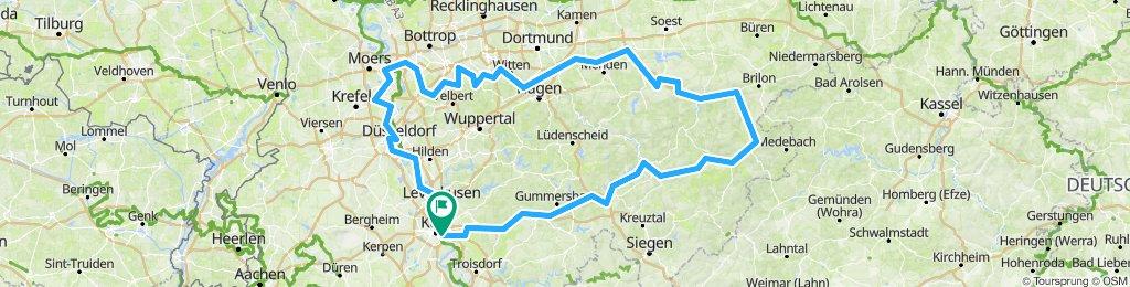 Agger, Lenne, Ruhr, Rhein