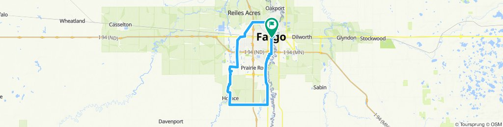 longest ride of my career! Awesome except all the intersections in west Fargo 😆