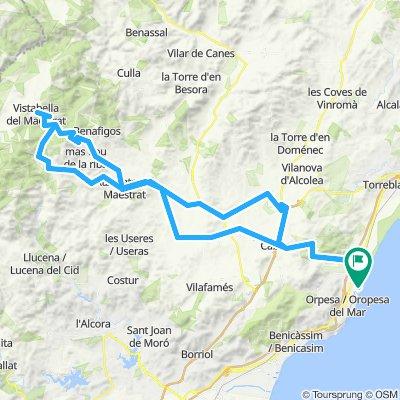 Marina D'or - Cabanes - Vall d'Alba - Xodos - Vistabella - Atzaneta - Benlloch - Marina D'ord