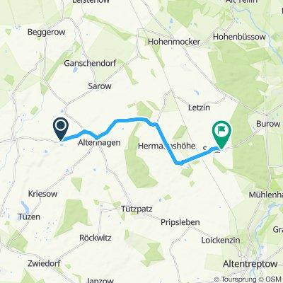 Gemütliche Route in Gültz