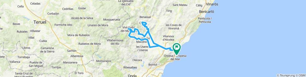 MArina D'or - Xodos - Vistabella - Culla - Vuelta
