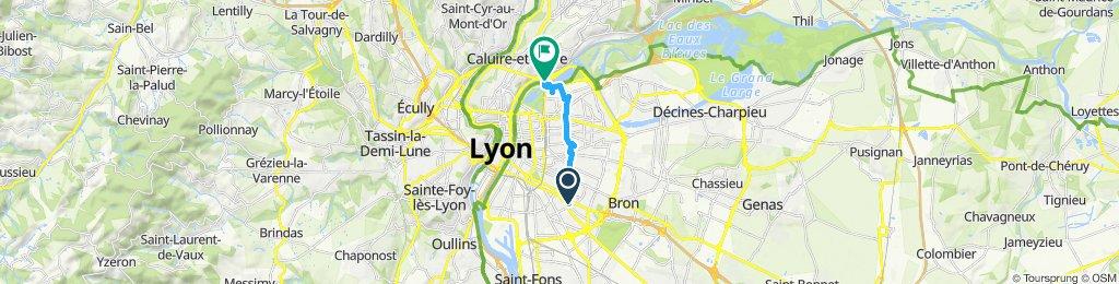 Itinéraire confortable en Caluire-et-Cuire