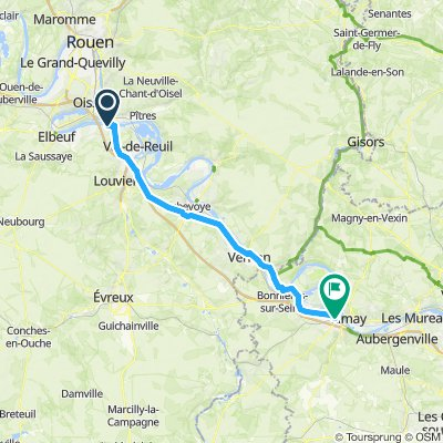 Relaxed route in Mantes-la-Jolie