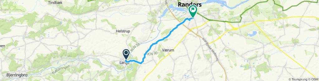 Relaxed route in Vorup